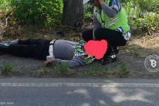 Polisi Cirebon tak sadarkan diri ditabrak pengendara motor saat razia