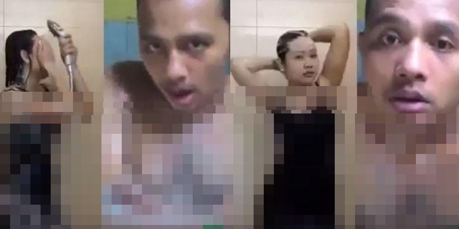Wanita dan pria ini karaoke via Smule sambil mandi, bikin geregetan!