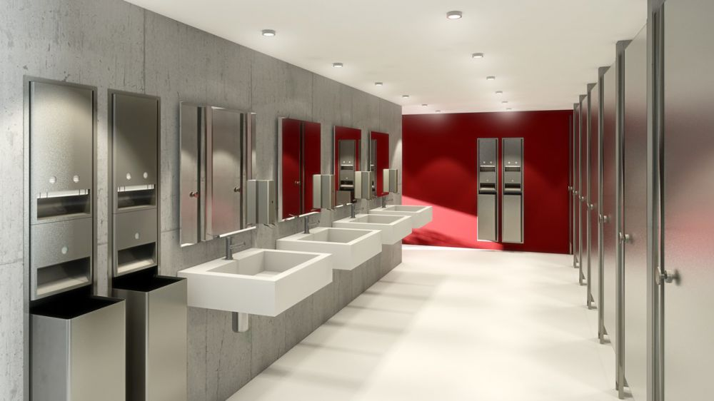 8 surprisingly cool reasons behind public restroom designs for Washroom designs pictures
