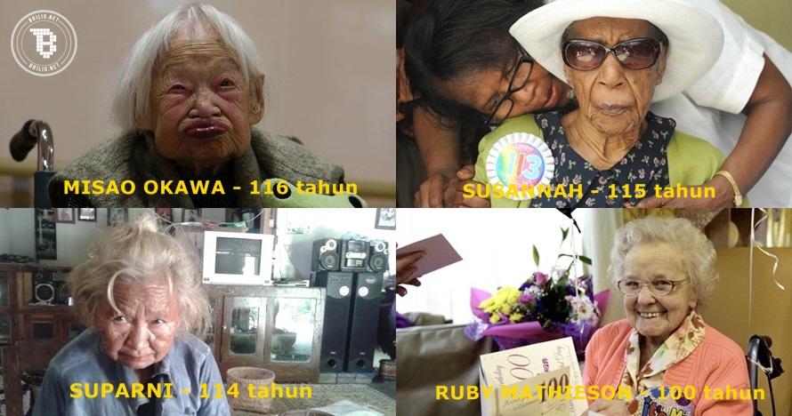 7 Nenek 'sakti' ini bisa berusia 100 tahun lebih, rahasianya apa ya?