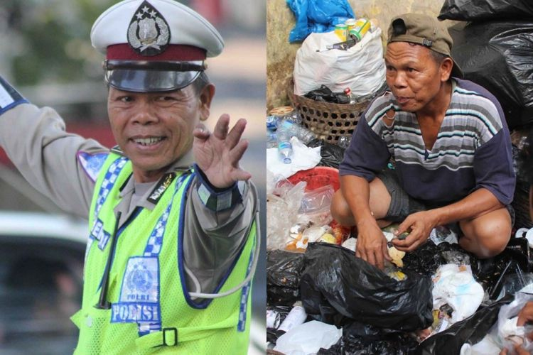 Bripka Seladi, polisi jujur yang cari tambahan dari memungut sampah