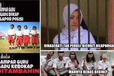8 Meme sindir perilaku siswa zaman sekarang yang enteng hukum, miris!