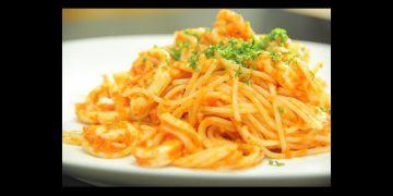 Resep red hot spaghetti with squid, pecinta kuliner Italia wajib coba!