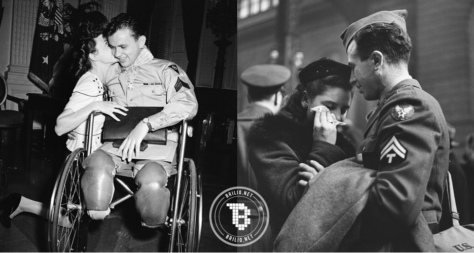 16 Foto mengharukan buktikan masih ada cinta di balik Perang Dunia II