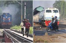 9 Kelakuan ngawur pengendara di perlintasan kereta api, jangan ditiru!