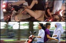 15 Foto kelakuan cewek di atas motor yang bikin geleng-geleng kepala