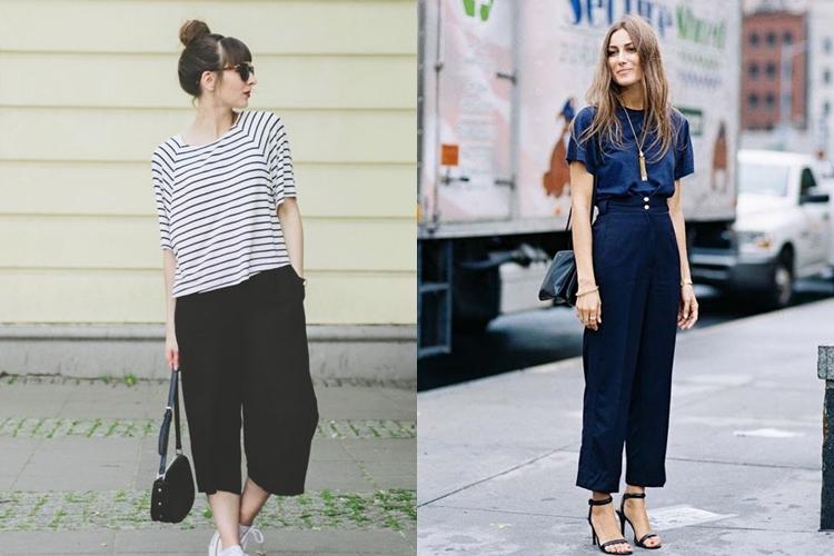 10 Tips Padu Padan Celana Kulot Untuk Penampilan Chic Nan Energet