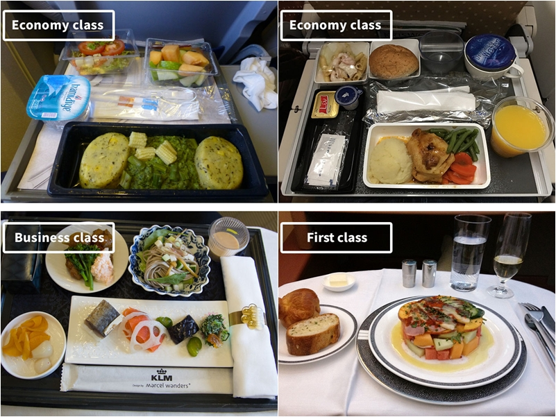 19 Economy Vs First Class Airline Foods Striking Differences