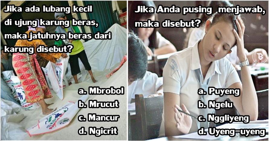 15 Tebak tebakan Bahasa Jawa ini tak kalah sulit dari tes TOEFL