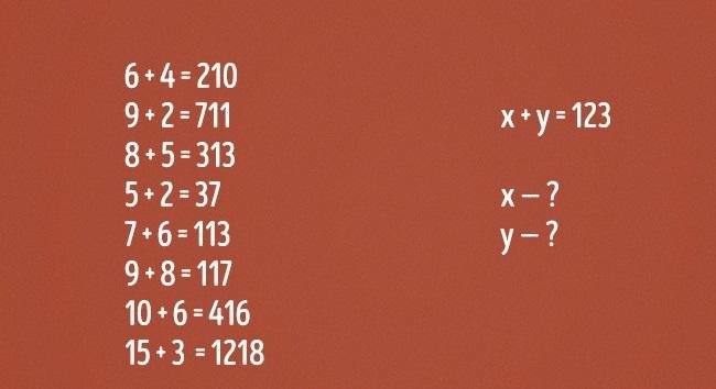 Kamu cerdas jika bisa menemukan nilai x dan y  di soal matematika ini!