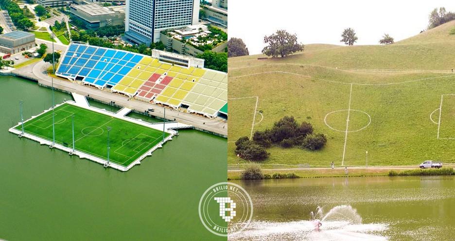 8 Stadion sepak bola terunik di dunia, ada yang mengambang di lautan!