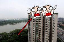 Aneh tapi nyata, atap apartemen pria ini ada gunung buatannya