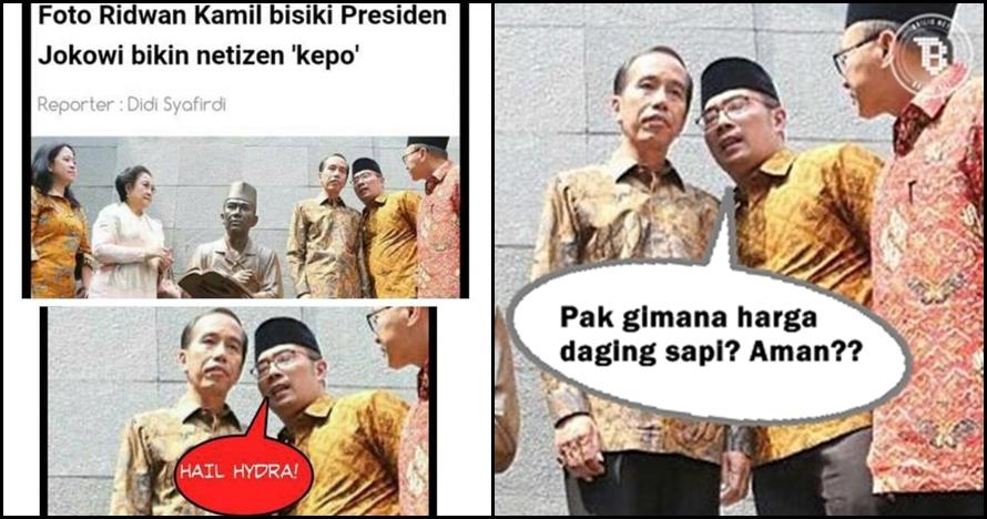 9 Meme 'Ridwan Kamil bisiki Jokowi' ini bikin ngakak, kocak banget!