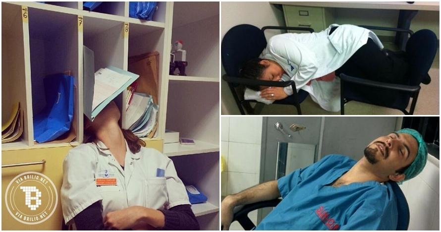 15 Foto dokter kelelahan ini bukti kalau mereka juga manusia biasa