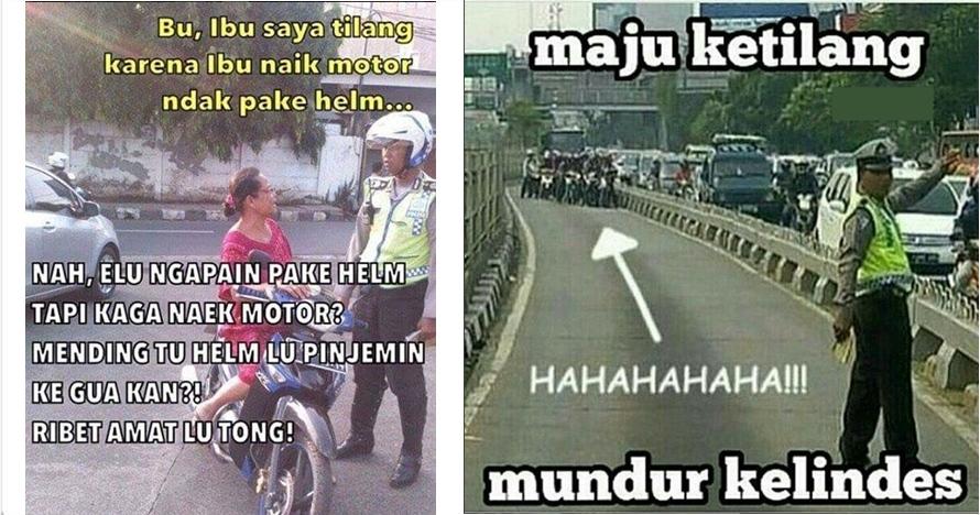 9 Meme lucu aksi tilang Polantas yang bikin kamu ketawa sendiri