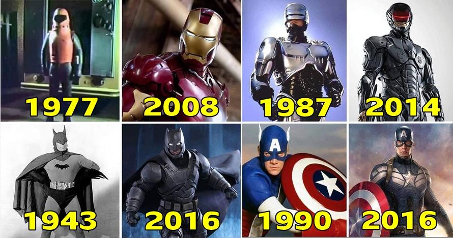 13 Transformasi kostum superhero dari masa ke masa ini keren banget
