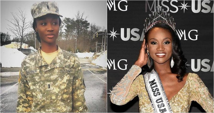 Deshauna Barber, tentara wanita pertama yang raih gelar Miss USA