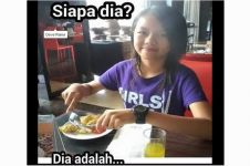 Foto gadis imut makan ini bikin geger netizen, kamu kenal nggak?