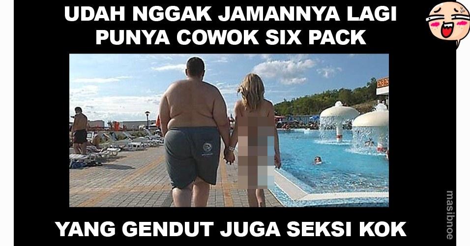 10 Meme kocak 'cowok gendut menang banyak' bikin ngakak deh!