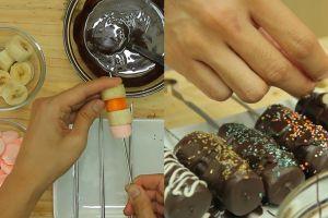 Fruity marshmallow chocolate stick, menu buka puasa bikin lidah leleh!