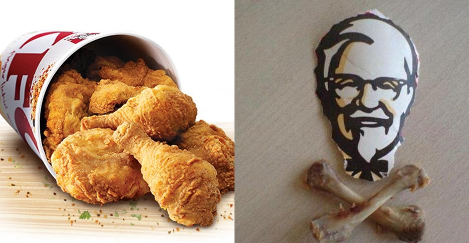 10 Karya unik dari tulang ayam goreng KFC, keren nggak nih?