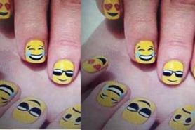 Ekspresikan mood kamu lewat nail art emoji, lucu!