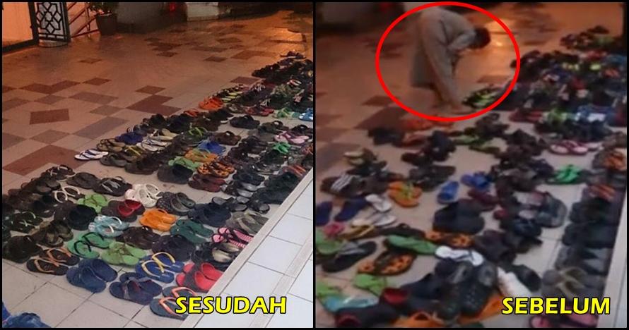 Netizen heboh video cowok yang merapikan sandal jamaah tarawih