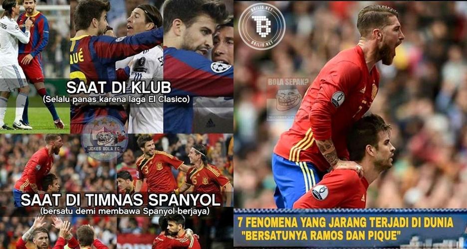 6 Meme ini sindir Ramos dan Pique di laga Spanyol vs Ceko, ciyeee akur