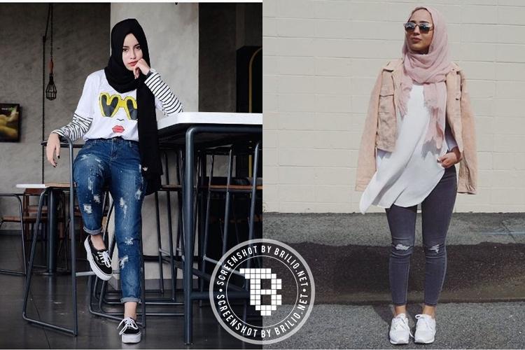 12 Mix and match ripped jeans buat kamu yang berhijab, hits abis!