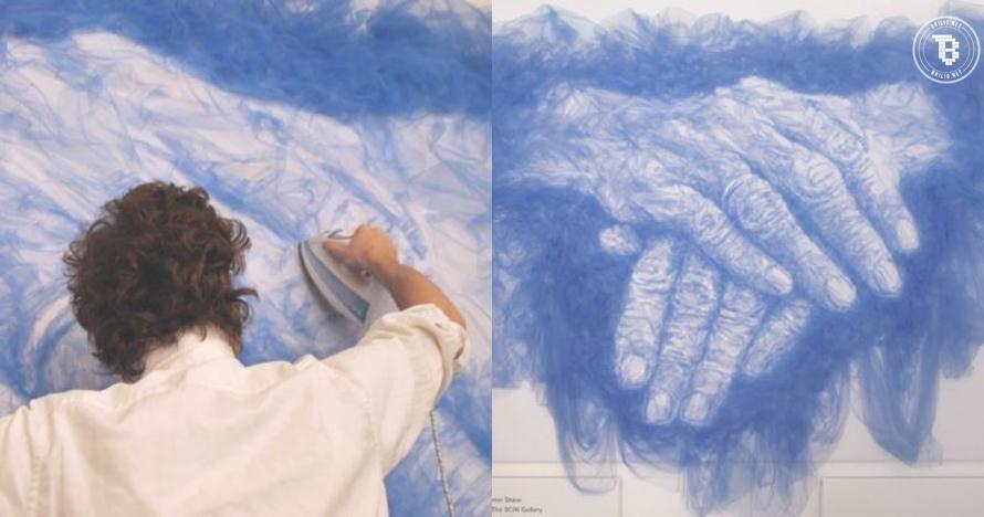 10 Lukisan keren ini dibuat hanya dengan bermodalkan kain dan setrika