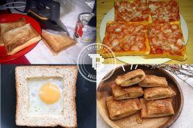 7 Menu roti tawar ala anak kos buat seminggu, cuma habis Rp 50.000-an!