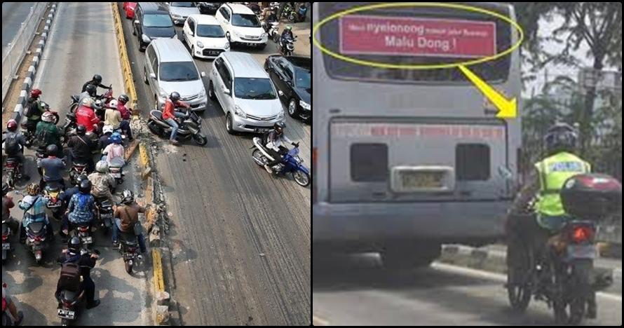 12 Kelakuan orang terobos jalur TransJakarta, sanksi tegas itu perlu!