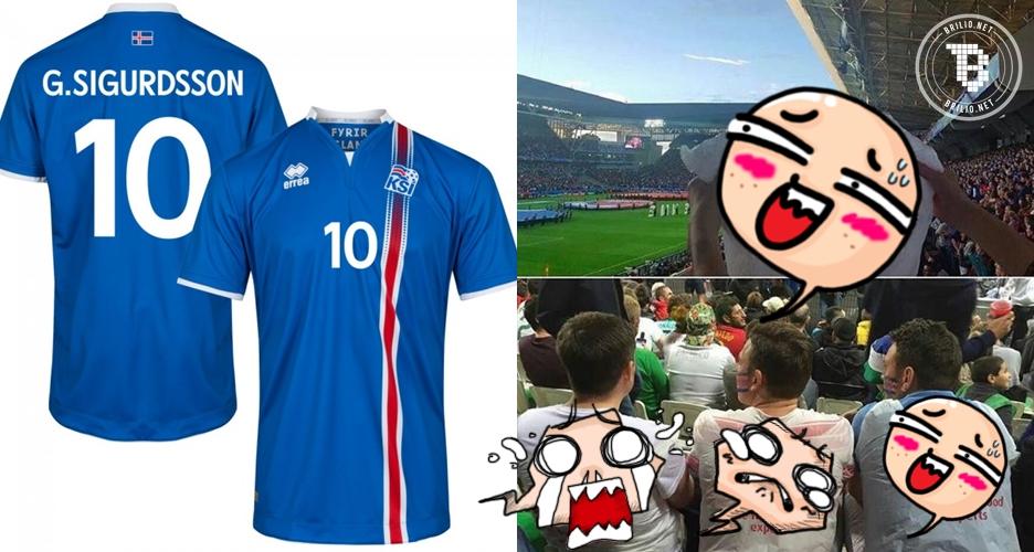 Kocak, ini aksi kreatif fans Islandia saat tak punya jersey, leh uga!