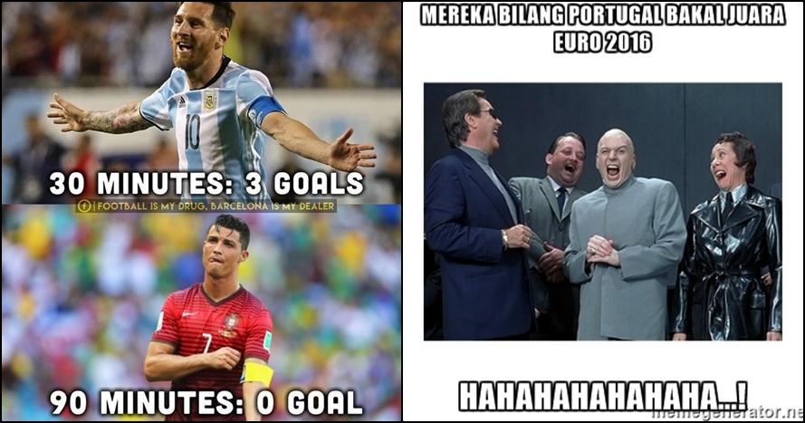 9 Meme sindir hasil imbang Portugal vs Islandia, lucu abis!