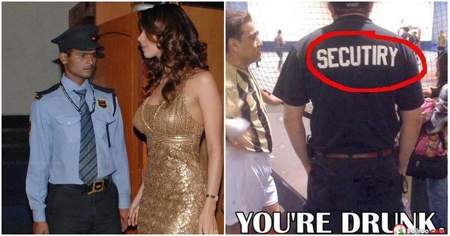 11 Foto kelakuan 'absurd' petugas keamanan yang bikin geleng-geleng