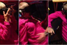 Nenek ini pingsan setelah dipaksa cucunya nonton video virtual reality