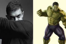 7 Foto transformasi Aamir Khan, dulu kerempeng kini mirip Hulk!