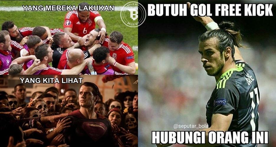 Walau kalah dari Inggris, 9 meme ini buktikan Bale titisan Superman!