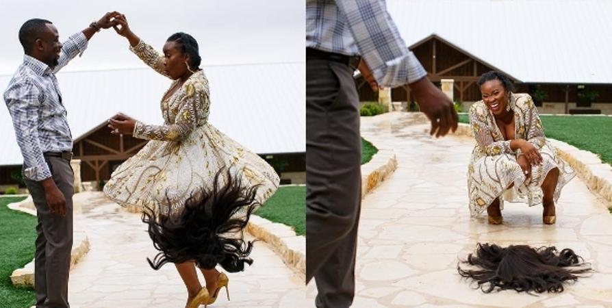 Wig jatuh, hasil foto pre wedding pasangan ini jadi lucu & natural