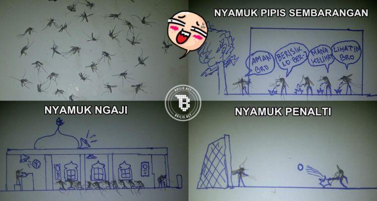 12 Karya kocak dari nyamuk mati ini bikin ketawa ngakak!