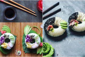 Nggak hanya digulung, Sushi berbentuk donat ini juga menggoda selera