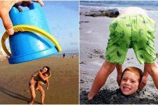 25 Pose foto gokil yang bisa kamu coba saat liburan ke pantai, berani?
