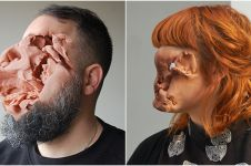 18 Karya seni playdough wajah ini bikin takjub sekaligus merinding