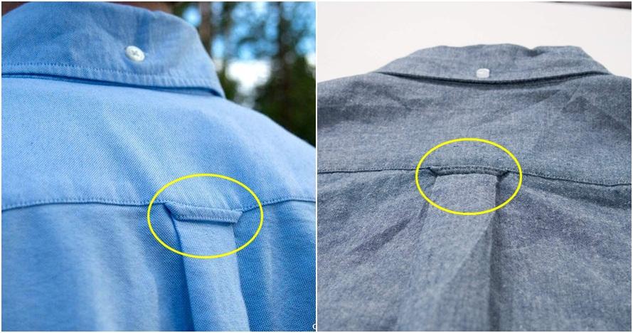 Ini asal usul dan fungsi tali kecil di belakang kemeja