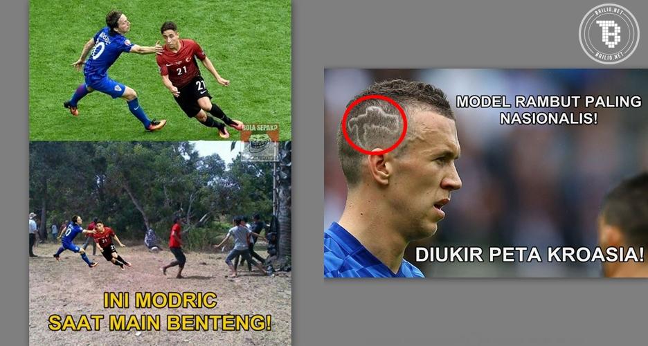 8 Meme ini tunjukkan Kroasia memang lebih joss dibanding Spanyol!
