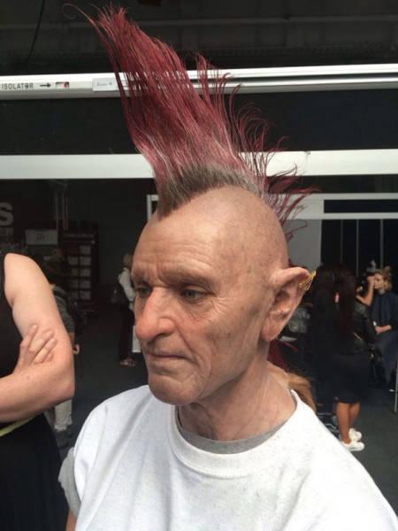 makeup lelaki tua bergaya punk © 2016 brilio.net