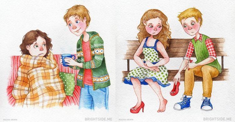 12 Ilustrasi ini kasih tahu kamu caranya selalu romantis sama pasangan