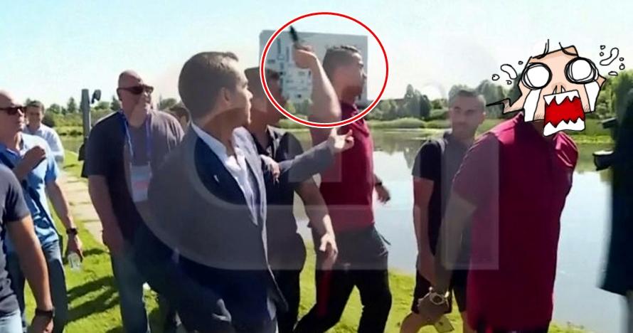 Cristiano Ronaldo buang mic reporter ke danau, kenapa ya?