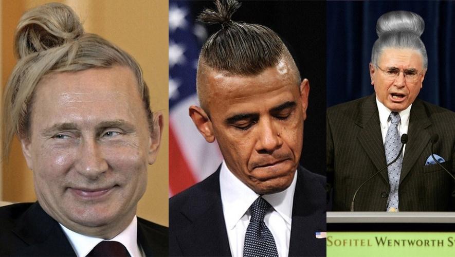Ini dia penampilan  17 pemimpin dunia, jika bergaya rambut bun