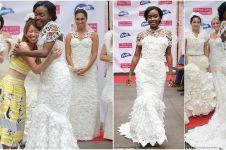 10 Gaun pengantin indah ini ternyata terbuat dari tisu toilet